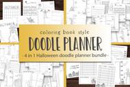 Halloween Doodle Planner Mega Bundle - 4 different Halloween Doodle Planner Sets in 1