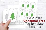 Christmas Tree Hanging Gift Tag Template