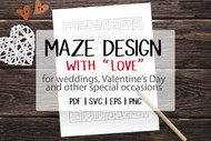 Mazes for kids:  Design with LOVE for weddings, Valentines Day and more