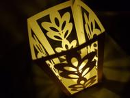 Paper Lantern Template with Pretty Flourish Design