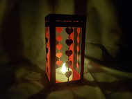 """Paper Lantern Template with Heart design and """"LOVE"""" in Morse Code border"""