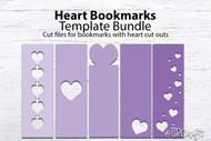 Heart Bookmarks Template Bundle
