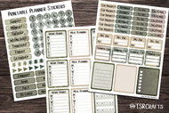 Planner Stickers - Printable by the page sticker set - Set# 20211