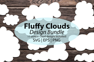 Cloud SVG Bundle - Simple Cloud Silhouettes