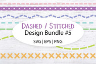 Digital Stitched Dashed Line designs vol 5