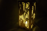 Paper Lantern Template - Halloween Ghosts Design with BOO