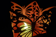 Paper Lantern Template - Butterfly design 1