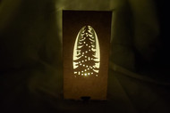 Paper Lantern Template - Christmas Tree with Lights