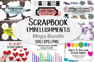 Scrapbook Embellishments - 9 in 1 paper cut mega bundle