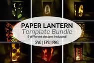 Paper Lantern Template Bundle - 9 designs included