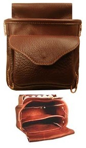 #143 Soft leather double pouch with front pocket