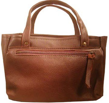 #406 Soft leather 4 box carrier with side zippered pocket was $97.00