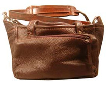 #416 Soft leather 4 box carrier with 2 side pockets Was $167