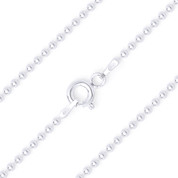 1.5mm (Gauge 150) Polished Ball Bead Link Italian Chain Necklace in .925 Sterling Silver - CLN-BEAD22-150-SLP