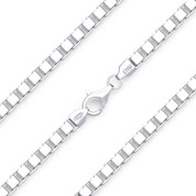 4.5mm (Gauge 500) Classic Box Link Italian Chain Bracelet in Solid .925 Sterling Silver - CLB-BOX1-500-SLP