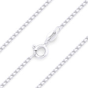 1.2mm (Gauge 024) Rounded Mirror-Box Link Italian Chain Necklace in Solid .925 Sterling Silver - CLN-BOX4-024-SLP