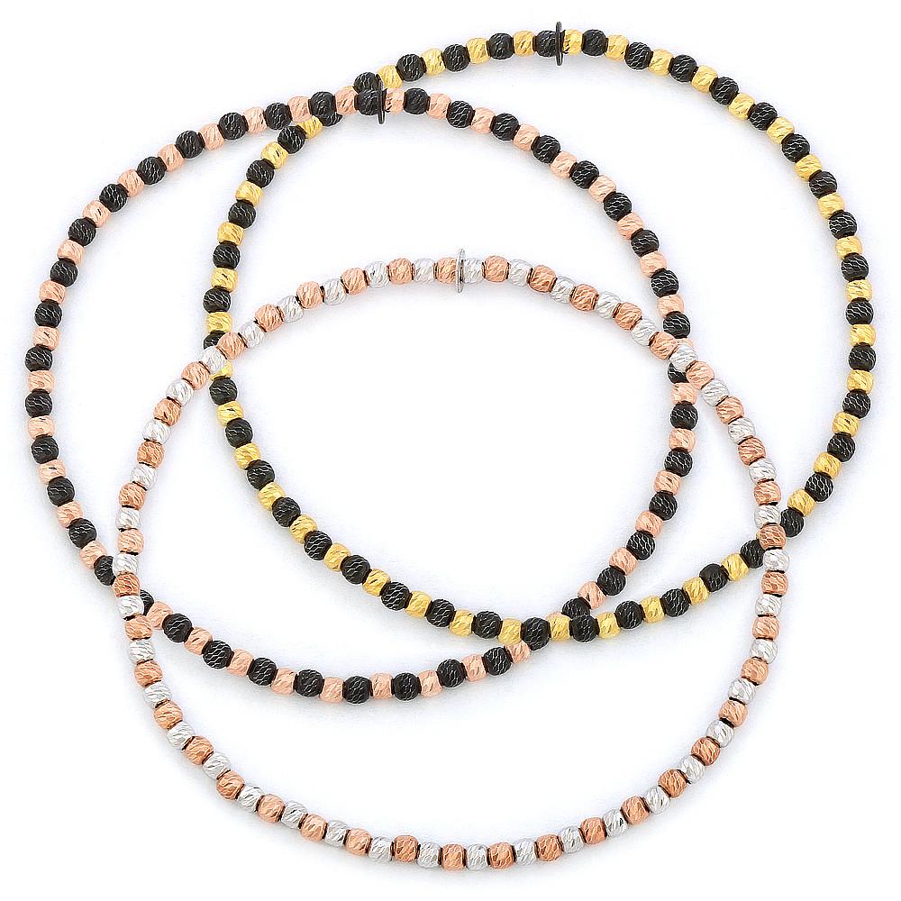 925 Sterling Silver Diamond-Cut Ball Bead Dangle Earrings