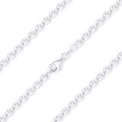 2.3mm Moon-Cut Ball Bead Link Italian Chain Necklace in 925 Sterling Silver - CLN-BEAD20-2.3MM-SLP