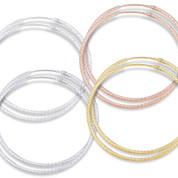 """44x1.5mm (1.7""""x0.06"""") Diamond-Cut Pave Tube Hoop Earrings in .925 Sterling Silver - ST-HE001-44MM-SL"""