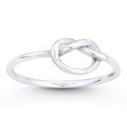 Overhand Knot Love Charm Sailor's Promise Ring in .925 Sterling Silver - ST-FR032-SLP