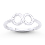 Infinity Symbol / Figure 8 Charm Stackable Ring in .925 Sterling Silver - ST-FR037-SLP