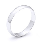 4mm Plain Dome Wedding Band in Plain Solid .925 Sterling Silver - PWB-001-4MM-SLP