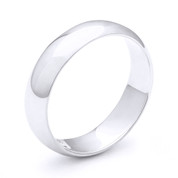 6mm Plain Dome Wedding Band in Plain Solid .925 Sterling Silver - PWB-001-6MM-SLP