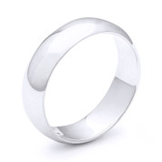 7mm Plain Dome Wedding Band in Plain Solid .925 Sterling Silver - PWB-001-7MM-SLP