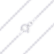 1.5mm Polished Ball Bead Link Italian Chain Anklet in .925 Sterling Silver - CLA-BEAD22-150-SLP