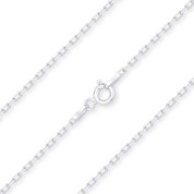 1.6mm D-Cut Anchor Cable Link Italian Chain Anklet in .925 Italy Sterling Silver - CLA-CAB14-050-SLP