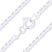 2.7mm Marina / Mariner Link Italian Chain Anklet in Solid .925 Sterling Silver - CLA-MARN1-060-SLP