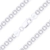 3mm Bismark / Bizmark Link Italian Chain Bracelet in .925 Sterling Silver - CLB-BISM1-050-SLP