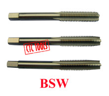 """British Standard Whitworth BSW Starter, Plug & Bottoming Thread Threading Tapping Tap In M2 Molybdenum Tool Steel, Sizes 1/8"""" to 1/2"""""""
