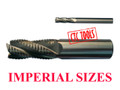 4 FLUTE HSS AL ROUGHING RIPPING HOGGING ENDMILL MILLING CUTTERS