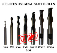 2 FLUTE HSS M2AL SLOT DRILL CENTER CUTTING ENDMILL MILLING CUTTER