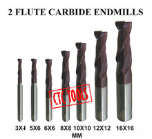 Center Cutting Tungsten Micrograin Carbide End Mills Endmill CNC Cutters For Slotting In Sizes 3MM To 16MM