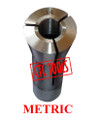 "R8 BRIDGEPORT MILLING MACHINE COLLET ROUND METRIC DRAWBAR THREAD 7/16"" 20TPI BORE"