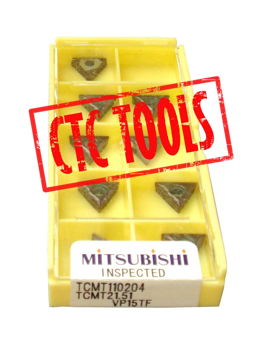 10Pcs MITSUBISHI TCMT110204 VP15TF Carbide Inserts for Tool Holder TCMT21.51