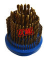 HSS M2 HSS TIN TITANIUM COATED 135 DEGREE SPLIT POINT METRIC DRILL BITS REVOLVING METRIC HOLDER STAND ORGANIZER