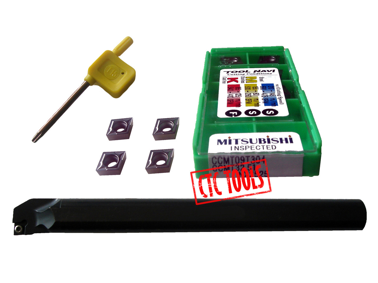 Indexable Boring Bars Set 4pcs//set W CCMT carbide Inserts--New