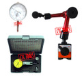 DIAL TEST INDICATOR + DIAL GAUGE + MINI MAGNETIC BASE #P61