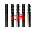 TiAlN Coated Tungsten Micrograin Carbide ENDMILL END MILL CNC Cutters In Sizes 1MM To 20MM