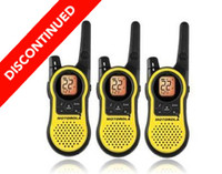Discontinued 3 Pack Motorola MH230TPR Two Way Radios with Dual Charger, Headsets and Rechargeable Batteries