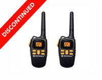 Discontinued Motorola MD207R Two Way Radios with Rechargeable Battery Packs and Charging Cables