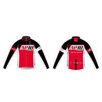 AP10 Mens Cycling Wind Jacket in Red