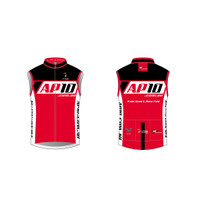 AP10 Mens Cycling Wind Vest in Red