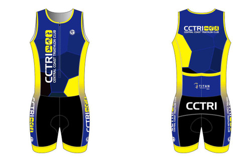 CCTri Womens Sleeveless Tri Suit - Front View