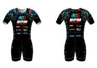 BPM Mens Short Sleeve Tri Suit