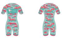 Corky Camo Short Sleeve Tri Suit