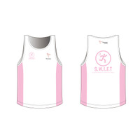 SWIFT White Running Singlet